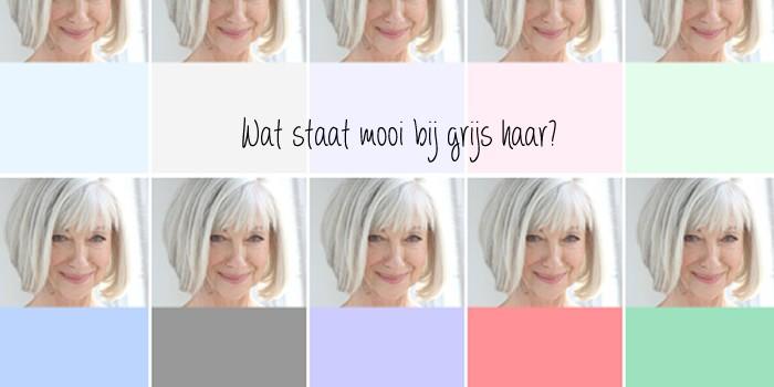Welke kleur past bij grijs kleding