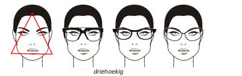 bril bij driehoekvorm gezicht