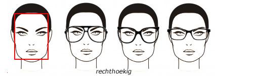 brillen bij een rechthoekig of langwerpig gezicht