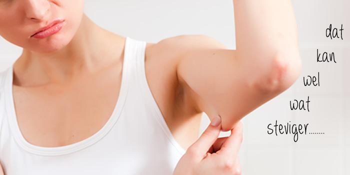 slappe bovenarmen in vorm