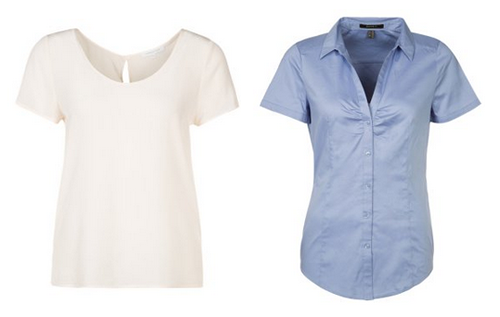 blouse korte mouw