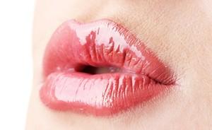 te glanzende lipstick