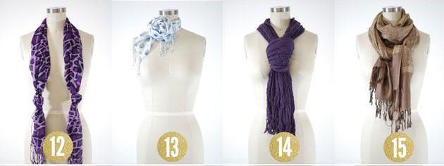 hoe knoop je je sjaal
